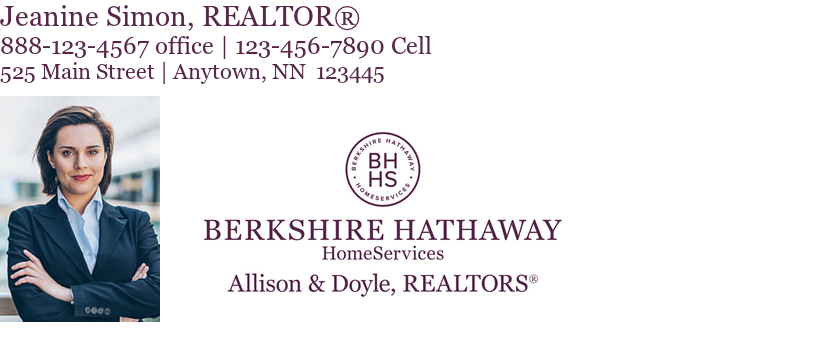 real estate email signature