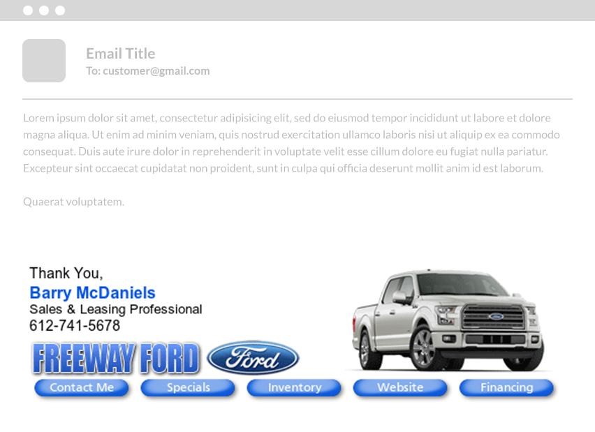 email signature design - freeway ford