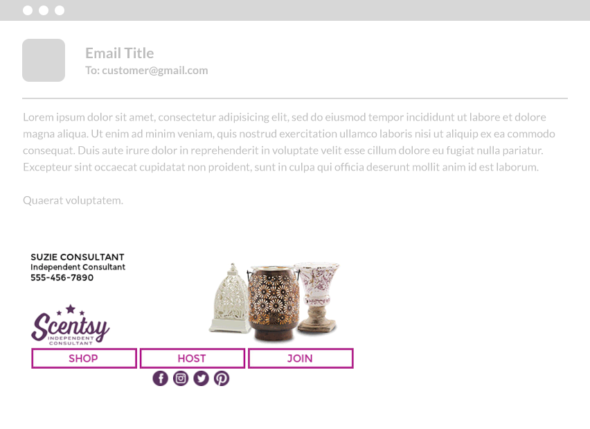 email signature - scentsy